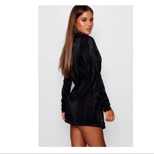 405e85e95eec0 Boohoo Dresses   New Petite Metallic Blazer Dress   Poshmark